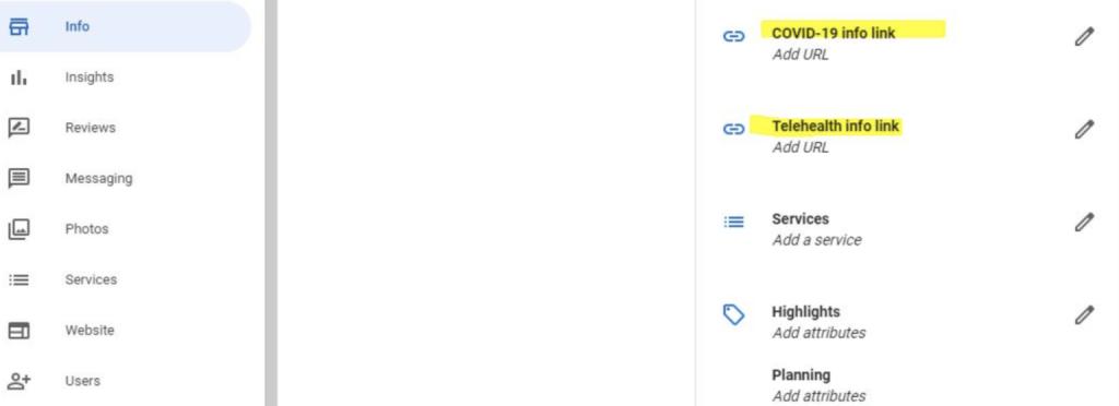 Priorización servicios salud por Google My Business durante coronavirus