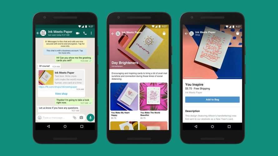 Integración de Whatsapp en Facebook Shops