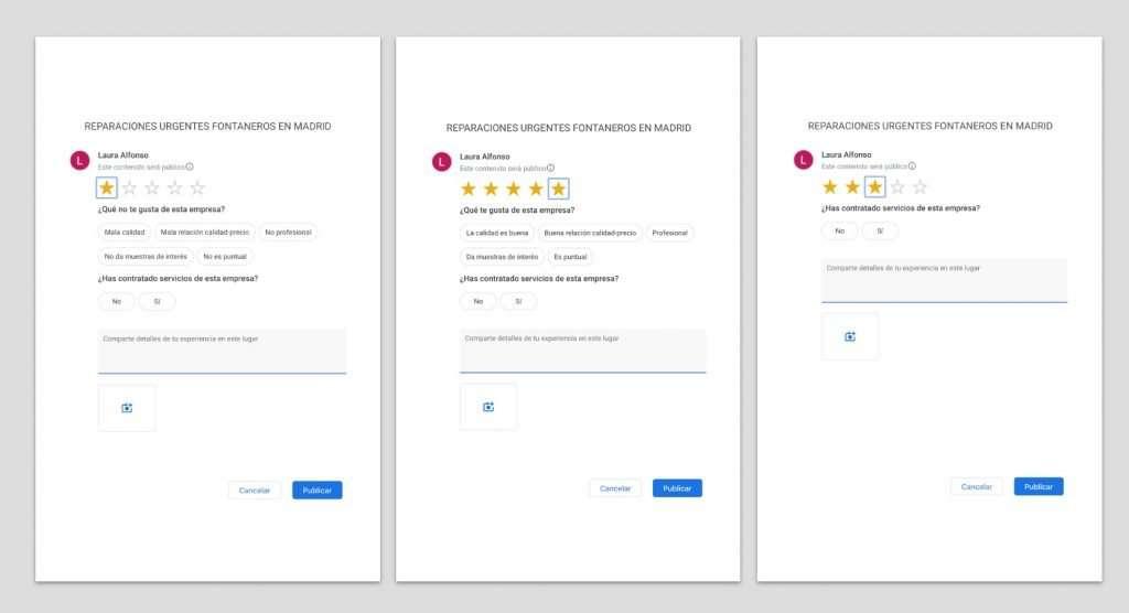 Atributos en las reseñas