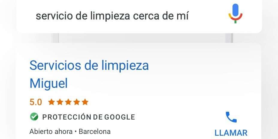 Insignia de Protección de Google para negocios Locales