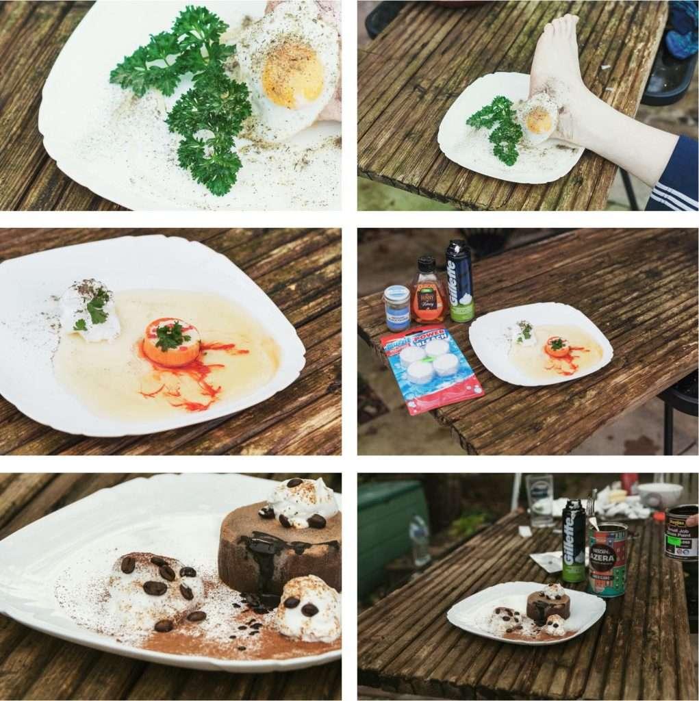 Platos del restaurante falso que consigue reseñas y se posicionó el número 1 en Tripadvisor
