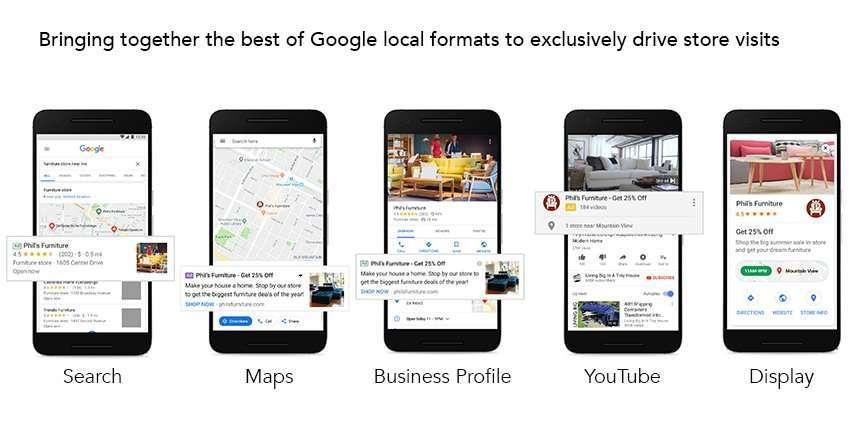 Ejemplo de formatos anuncios locales Tienda de muebles