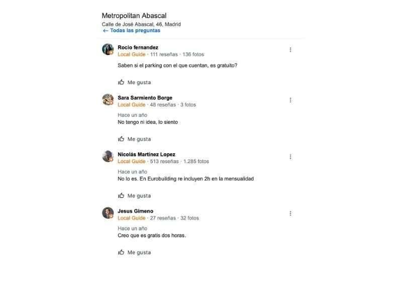 Respuesta a las Q&A por parte de otros usuarios