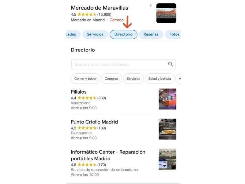 Directorio Mercado Maravillas